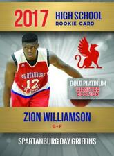 2017 ZION WILLIAMSON  FIRST HIGH SCHOOL GOLD PLATINUM RC ONLY 2000 MADE DUKE🔥🔥