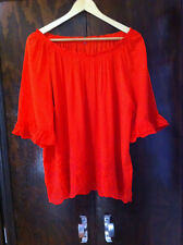 SUZANNE GRAE ORANGE  OFF THE SHOULDER BOHO STYLE TOP SIZE 18-20? BN