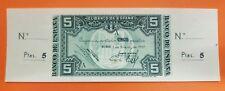 BILBAO 5 PESETAS 1937 Serie A BANCO CENTRAL SC- @OXIDO@ Pick S561I MATRIZ España
