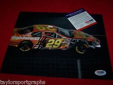 KEVIN HARVICK Signed 8X10 NASCAR RACING CRASH PHOTO PSA CERTIFIED
