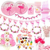 Hawaii Flamingo Party Decor Set Tableware Balloons Baby Shower Birthday Supplies