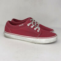 Vans Mens Off The Wall TB4R Red Canvas Skate Shoes Lace Up Low Top Sz M 9.5 W 11