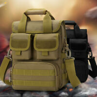 Men Tactical Messenger Shoulder Sling Bag Molle Crossbody Pack Outdoor Hiking