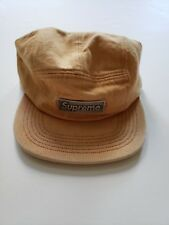🔴SUPREME S/S 2018 METAL PLATE GOLD CAP HAT CAMP BOX LOGO NOT GAYE NORTH 🔴