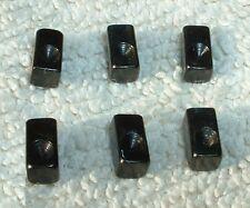 Floyd Rose Tremolo 6 Saddle BLOCK INSERTS BLACK original special lic -M- **NEW**