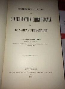 INTERVENTION CHIRURGICALE DANS LA GANGRÈNE PULMONAIRE, 1908.