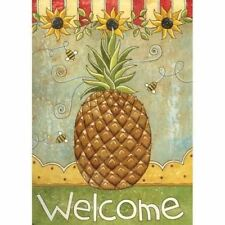 "Pineapple and Sunflowers Garden Flag ""Welcome"" - 119117"