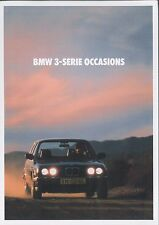 198? BMW 3 SERIE (3ER) E30 OCCASIONS PROSPEKT BROCHURE DEPLIANT NIEDERLÄNDISCH