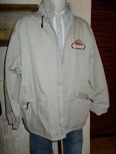 Veste droite blouson coupe vent QUIKSILVER XL 54/56 coton/polyester beige brodé