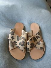 Topshop, size 39 (6) leopard slider sandals, new without the box