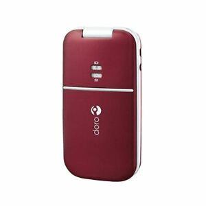 Doro PhoneEasy 410 Red EE Locked Flip Big Button Phone - Grade A