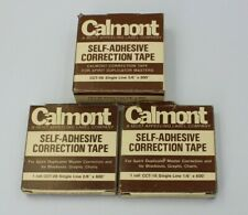 Calmont Correction Tape Set of 3 Vintage Office Supplies