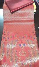Red Beautiful Rayon Silk Fabric Synthetic Thai Tradition Wedding dress 2pcs