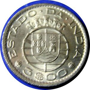 elf India Portuguese 3 Escudos 1959