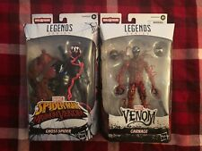 MARVEL LEGENDS VENOMPOOL WAVE (2)FIGURE LOT GHOST SPIDER and CARNAGE MIB LOOK!