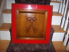 "Vtg. Solid Wood Relieve Cut 3D ""THE KEYS TO LIFE"" Wall Hanger Great Condition"