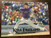 2019 Topps Stadium Club #271 KYLE FREELAND COLORADO ROCKIES BLACK FOIL