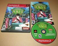 World Championship Poker for Playstation 2 PS2 Complete Fast Shipping