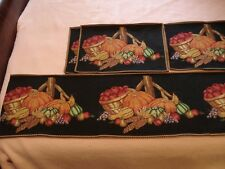 Tapestry Table Runner & 4 Matching Placemats, Fall Design