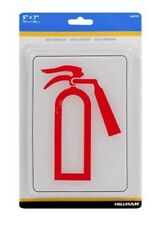 New listing 🔥The Hillman Group 7 Inch x 5 Inch Self Adhesive Plastic Fire Extinguisher Sign
