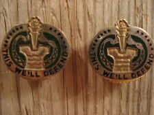 2 Vintage THIS WE'LL DEFEND Army Drill Instructor Pins Korean War Era VG Free Sh