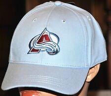 NHL Lizenz Caps Colorado Avalange Schirmmütze Einheitsgröße Klett Hellblau Neu