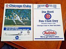1985 Chicago Cubs Fan Appreciation Day Scorecard RYNE SANDBERG cover