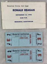 Lot of Tickets 1975 California Governor Ronald Reagan @ Wichita Falls Texas