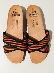 Finn Comfort Sandalen Gr. 45 orange und schwarz