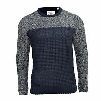 Mens Jumper Brave Soul Solid Knitwear Knit Crew Neck Sweater