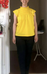 Bright Yellow Ann Taylor Top