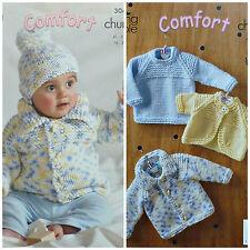 KNITTING PATTERN Baby Jumper, Bolero, Jacket and Hat Chunky King Cole 3045