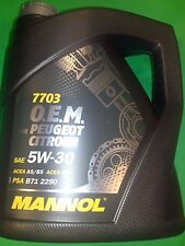 4 Liter MANNOL 5W-30 Motoröl 7703 O.E.M.OEM für Peugeot Citroen B712290 EURO 5