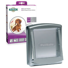 PetSafe StayWell 737 Cat Flap or Small Dog Door Silver Grey