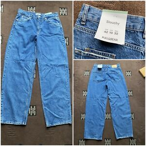 """Men's pull&bear slouchy jeans waist 32 inside leg 32"""" zip fly new with tag (94)"""