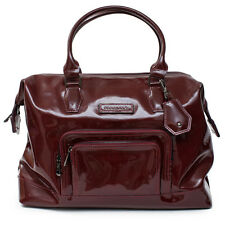 LONGCHAMP Legende Burgundy Red Bag Patent Leather Handbag Purse  NEW