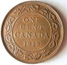1913 CANADA CENT - Great Coin - FREE SHIP - BARGAIN BIN #25