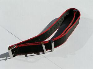 Omega Black w/ Red Border 20mm Polyamide NATO Strap Genuine Authentic I264