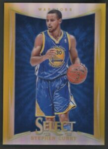 2012-13 PANINI SELECT PRIZM STEPHEN CURRY WARRIOS GOLD 07/10  #39