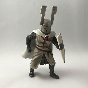 """Blue Box Fantasy Medieval Knight Warrior 4"""" Toy Figure With Shield 2005"""
