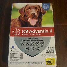 K9 Advantix Ii For Extra Large Xl Dog over 55 Lbs 6 Month Flea & Tick Free Ship