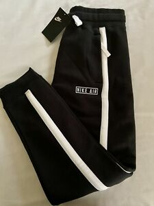 NEW Nike Sweatpants Boys L Black/White