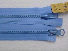 Reißverschluss Kunststoff 4mm grobe Zähne teilbar 60 cm glänzende Zähne 3 Farben
