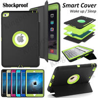 Hybrid Heavy Duty Shockproof Stand Flip Smart Case Cover For Apple iPad Series