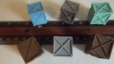 H-O Scale 6 Piece Heavy Freight Shipping Crates Model Train Detail Parts