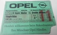 Old ticket UEFA Final Bayern Munchen Girondins Bordeaux 1996 Germany France