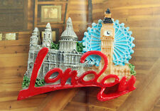 UK London Großbritannien Wahrzeichen Reise Souvenir 3D Kühlschrankmagnete Magnet