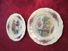 2 assiettes a dessert Obernai Sarreguemines