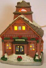 Geo Z Lefton 05821 Vintage 1986 Christmas Village School House with box deed
