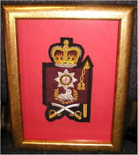 Guards Regimental Company Sergeant Major arm badge (framed)